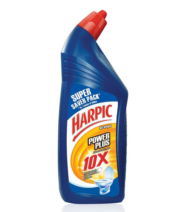 Buy Harpic Toilet Cleaner Power Orange 1 Litre, Get Lizol Neem 200ml free