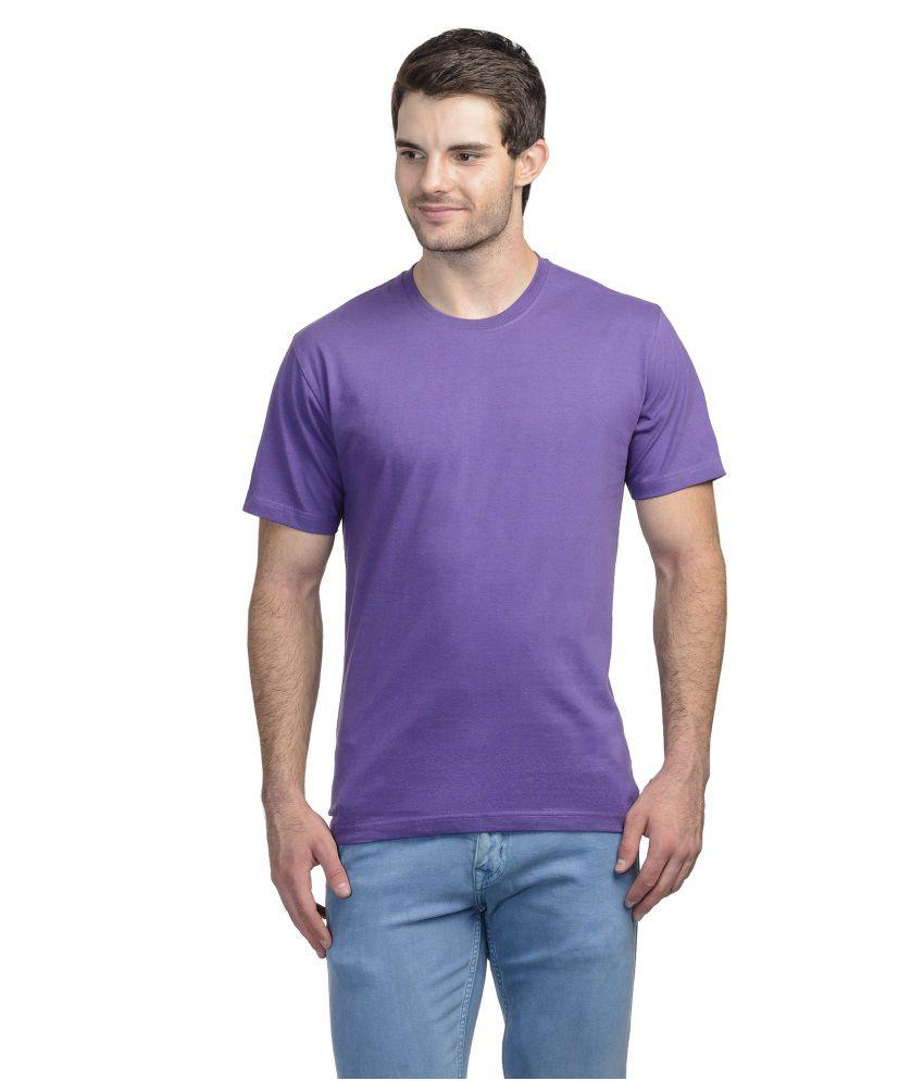 Trendamo Purple Round T Shirts No