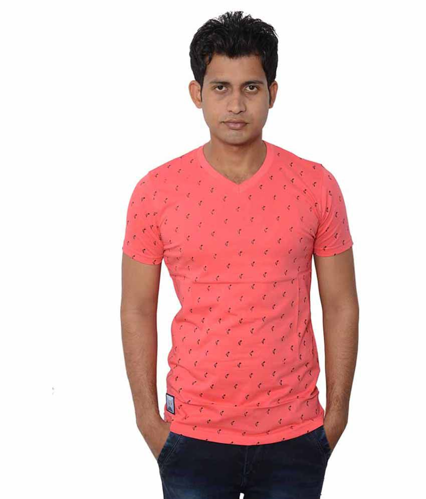 Lampara Peach V-Neck T Shirts Single