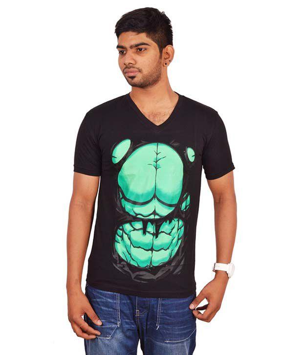 Rogue Black V-Neck T Shirts