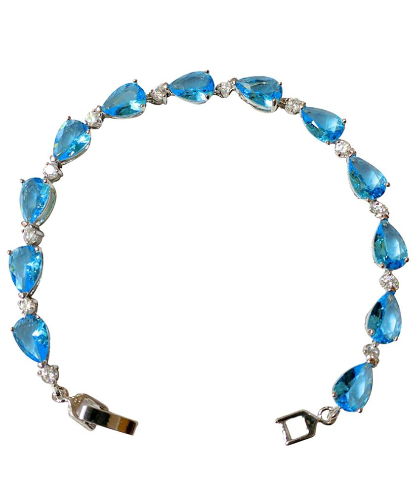 Canadian Fashion Jewellery Blue Alloy Bracelet - Pack of 2