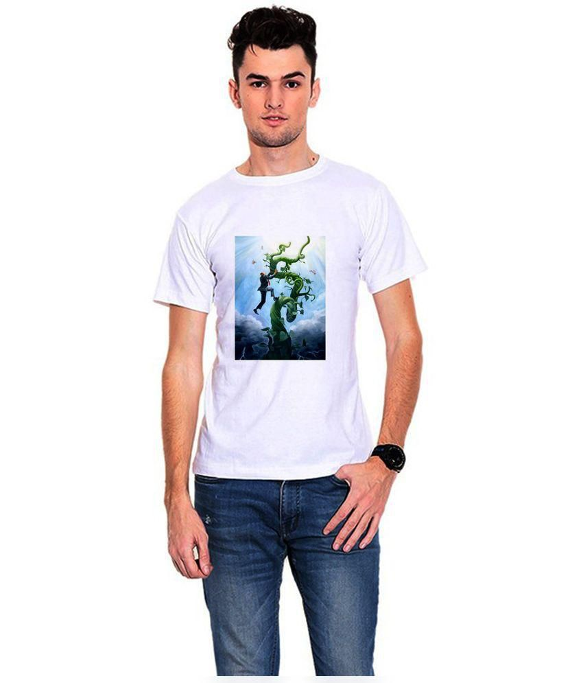 Dealnearn White Polyster T-shirts
