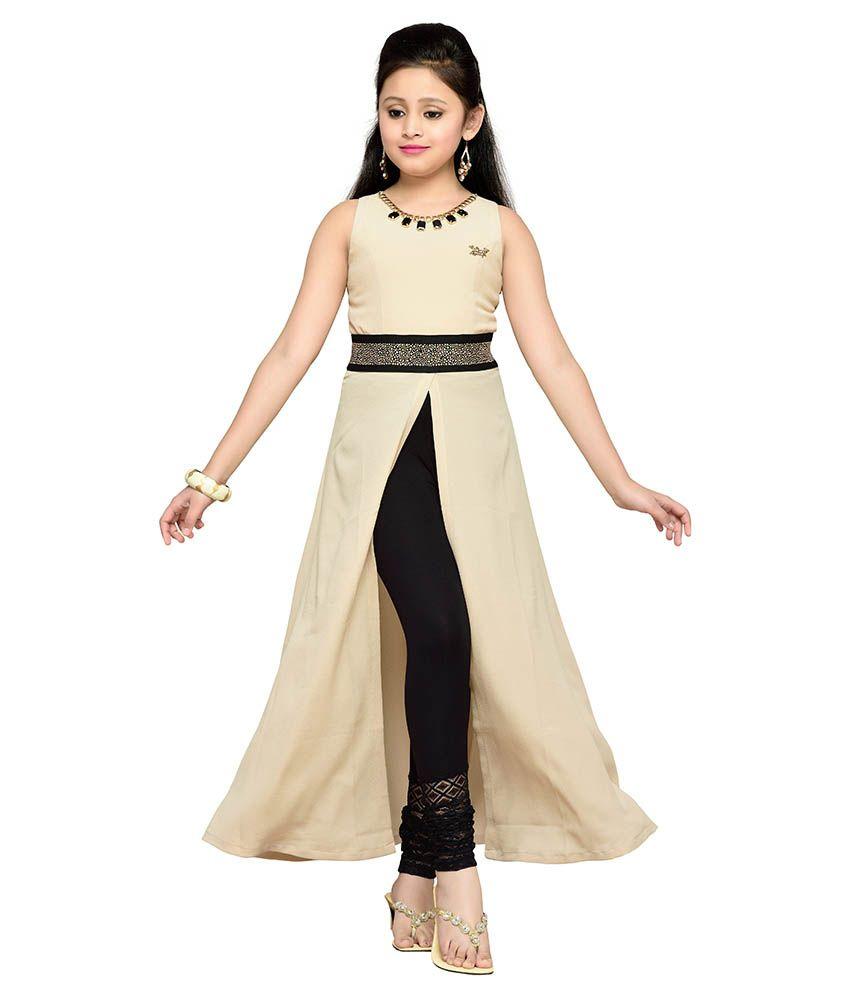 85a48643b1b60 Hunny Bunny Beige Dresses For Girls