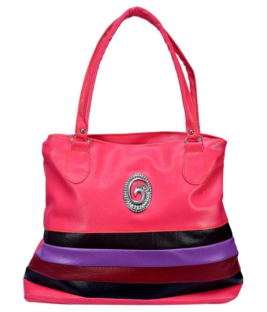 PSC Pink Synthetic Shoulder Bag