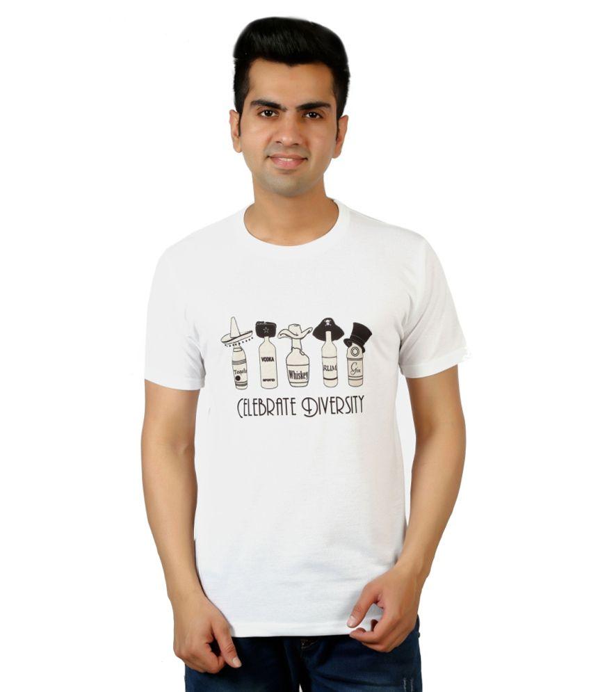 Dewy White Round T Shirts Single