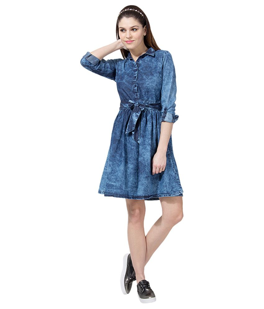 b595e1d719 Tokyo Talkies Navy Denim Dresses - Buy Tokyo Talkies Navy Denim Dresses  Online at Best Prices in India on Snapdeal