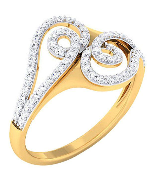 H B Jewels 14kt Gold and Diamond BIS Hallmarked Ring