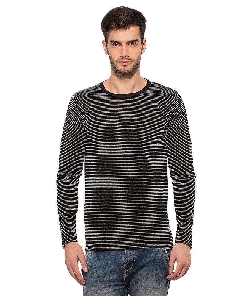 Alan Jones Clothing Black Round T Shirts No