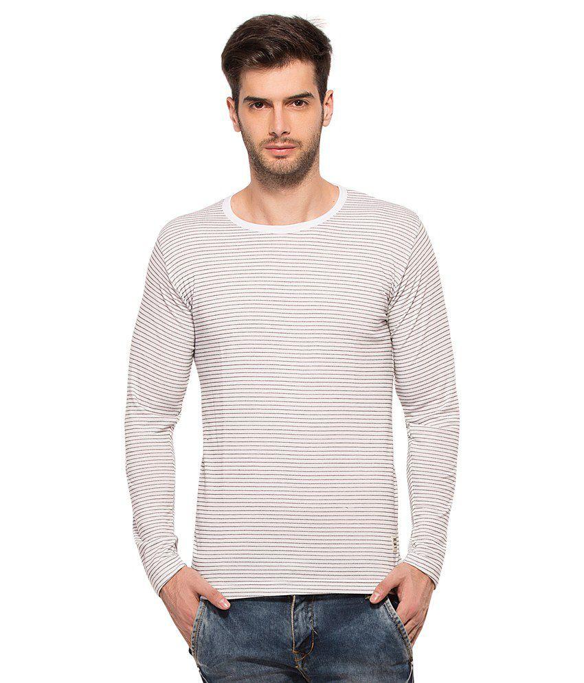 Alan Jones Clothing White Round T Shirts No