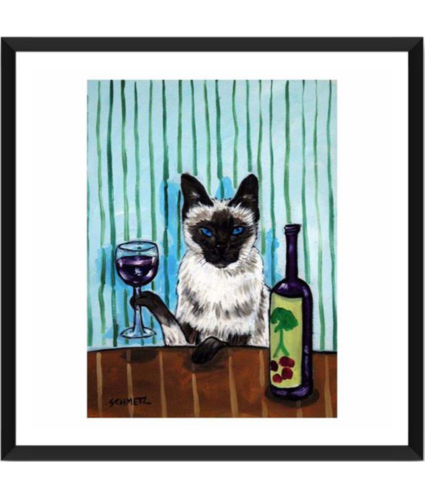 Tallenge Creative Cat Painting With Acrylic Frame