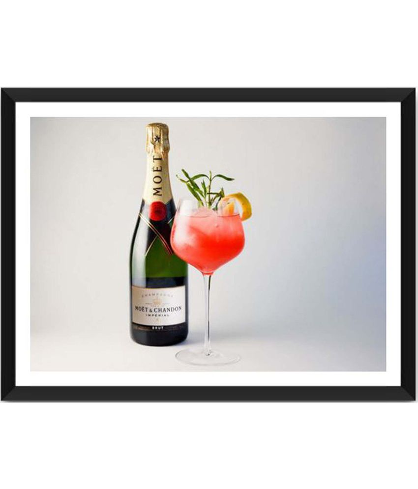 Tallenge Imperial Ruby Red Moet Painting With Acrylic Frame