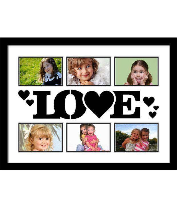 Elegant Arts & Frames Black Love Collage Photo Frame