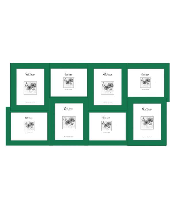 Elegant Arts & Frames Green 8-in-1 Collage Photo Frame