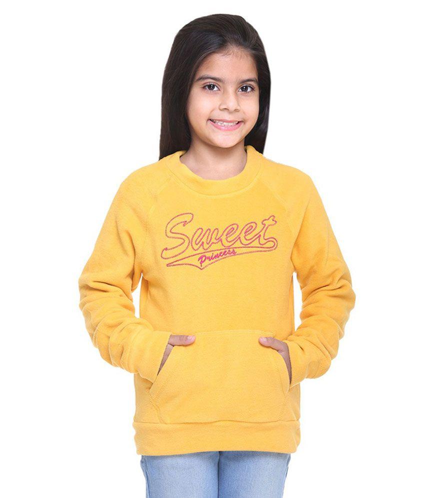 Kids-17 Yellow Fleece Sweatshirt
