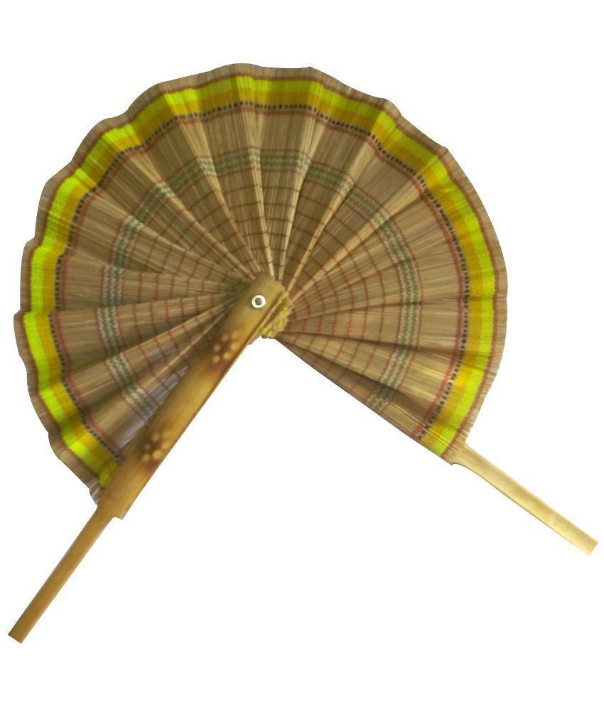 Swadesibuyzzar Brown Wooden Handmade Fan