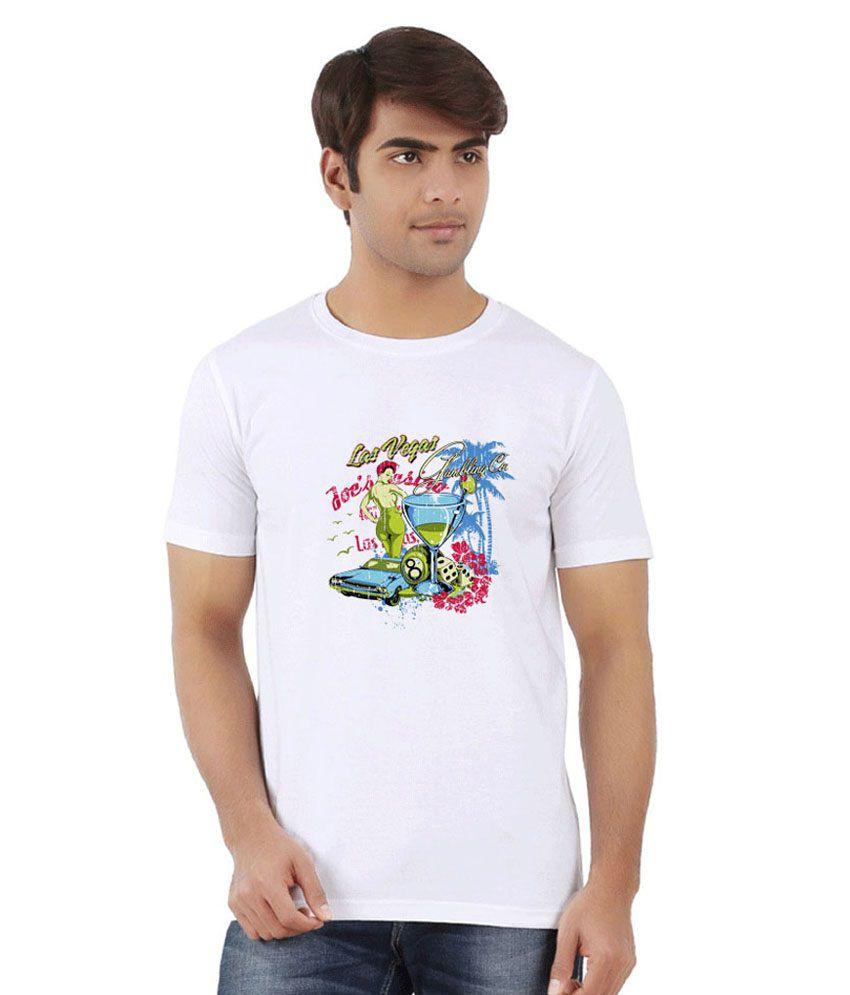 Dealnearn White Round T Shirts No