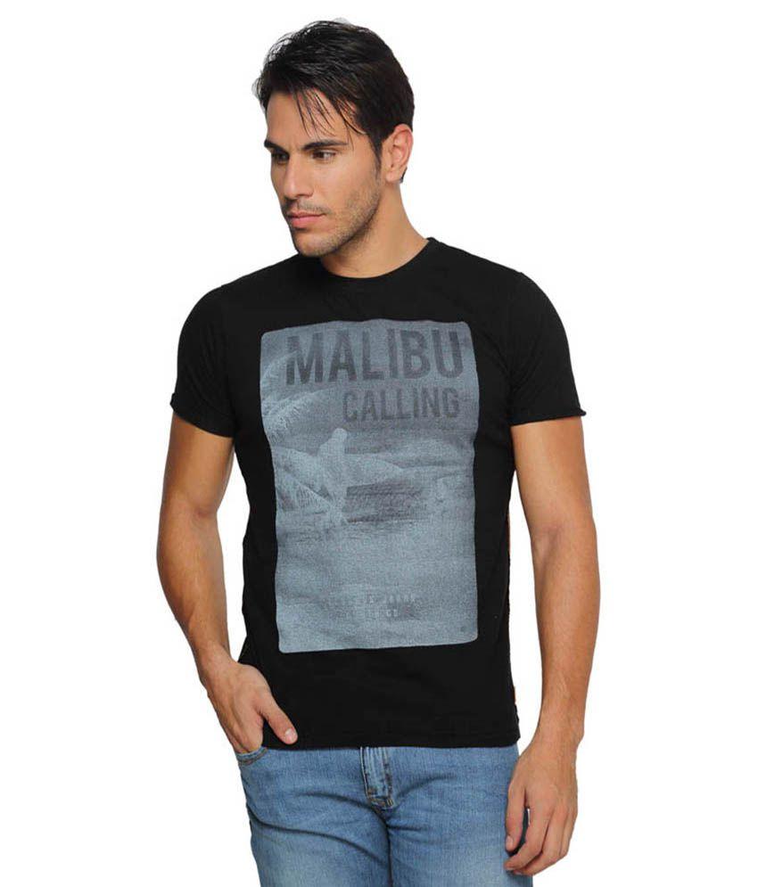 Ferrous Jeans Black Round T Shirts No
