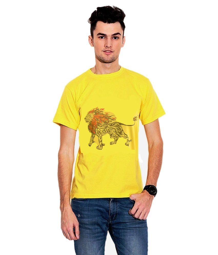 IQU Traders Yellow Round T Shirts No