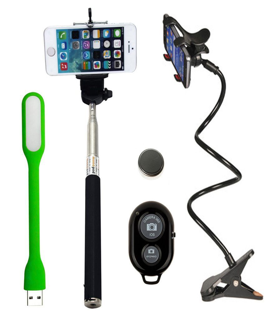Iceberg Makers.In Iceberg Makers.in Universal Flexible Long Arm Mobile Holder Stand ,Selfie Stick And USB Led Light For Smart Phones