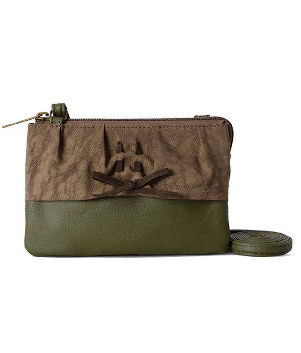 Baggit Green Canvas Sling Bag