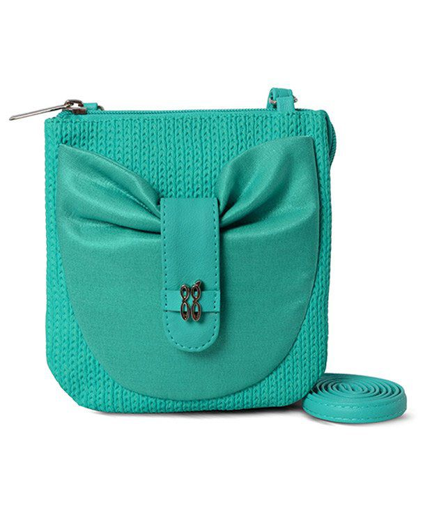 Baggit Turquoise Canvas Sling Bag - Buy Baggit Turquoise Canvas ...