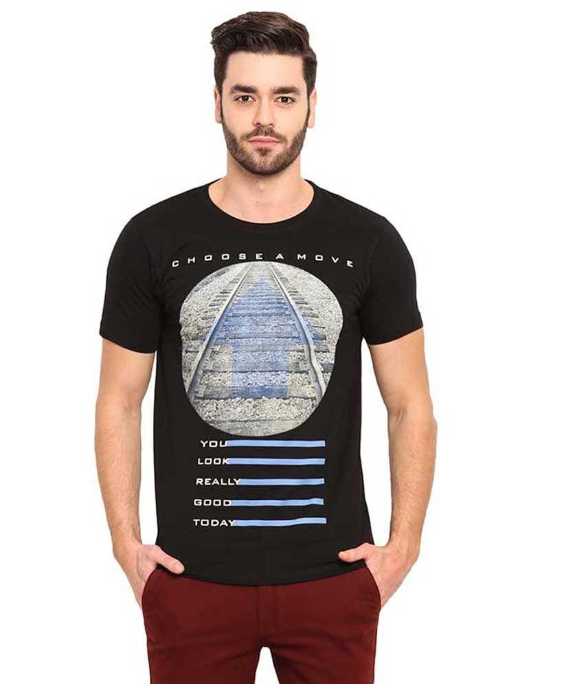 Mode Vetements Black Round T Shirts