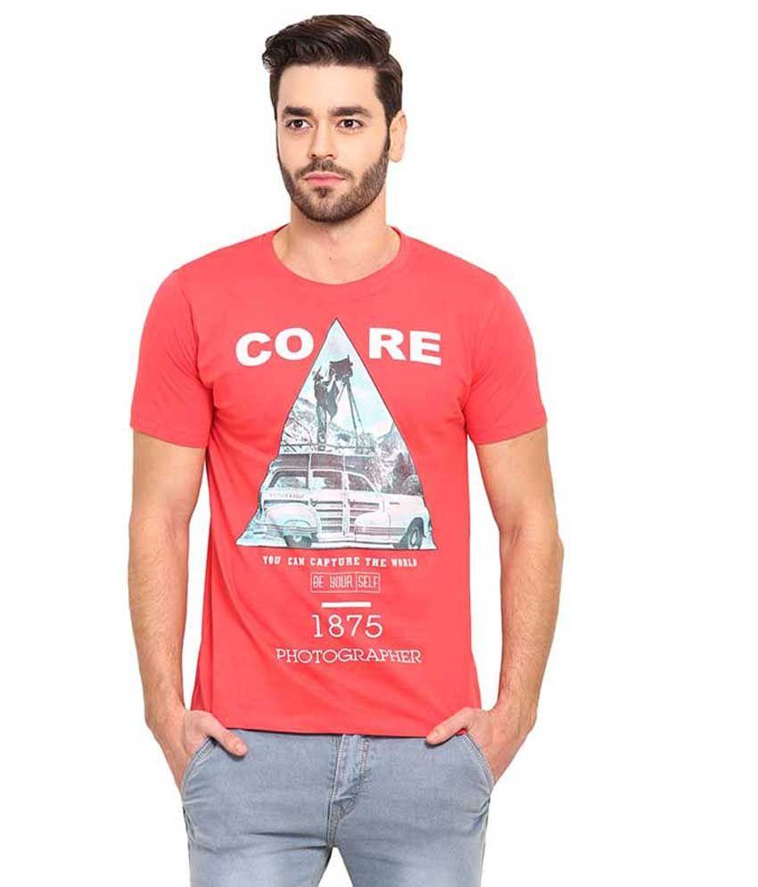 Mode Vetements Pink Round T Shirts