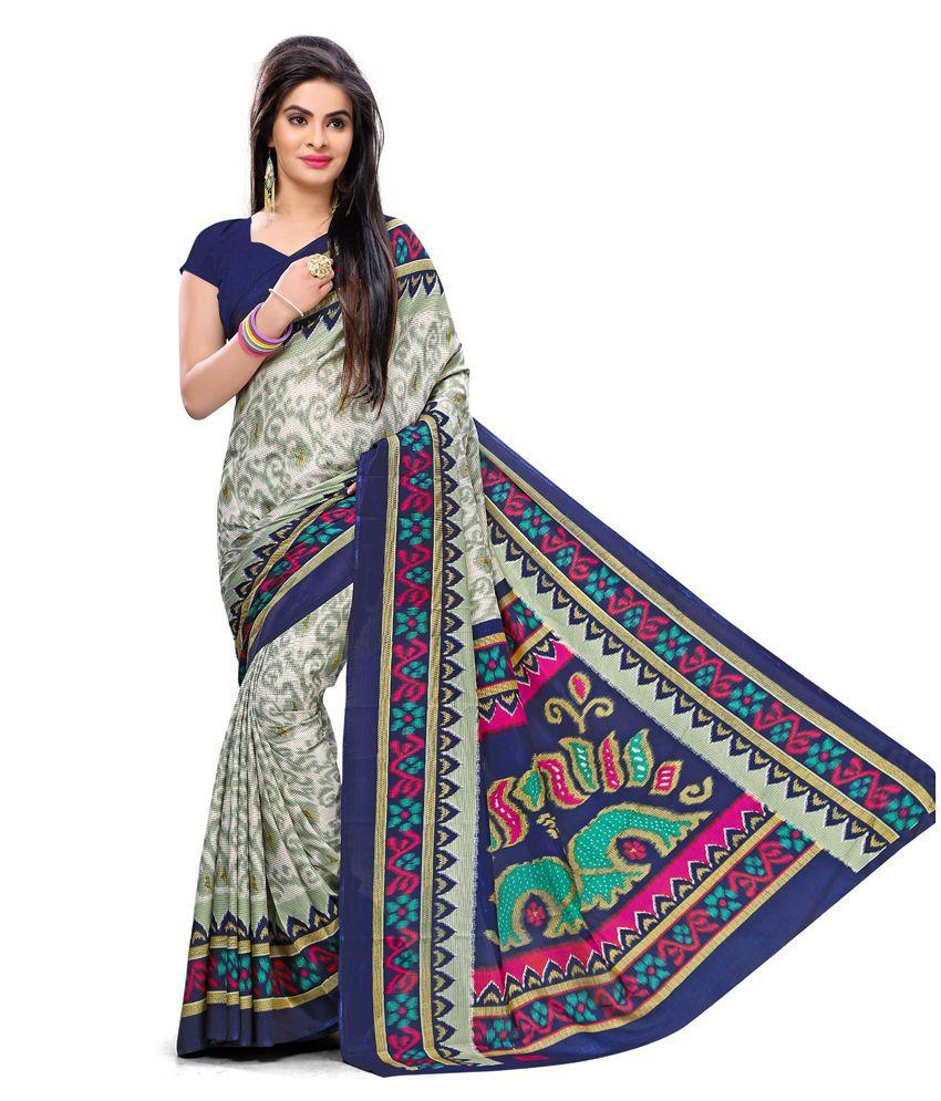Plenova Multicoloured Art Silk Saree