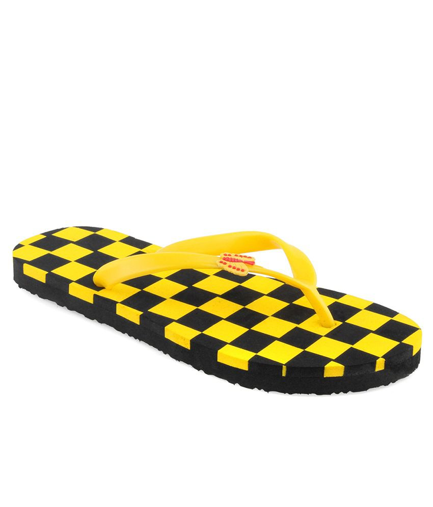 Shoe Lab Yellow Slippers & Flip Flops