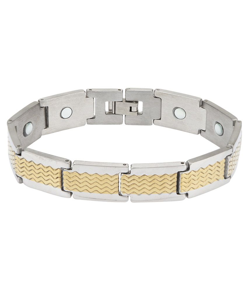 VTC  Two Tone High Quality Bio-Magnet  Bracelet Made Of Titanium Stainless Steel