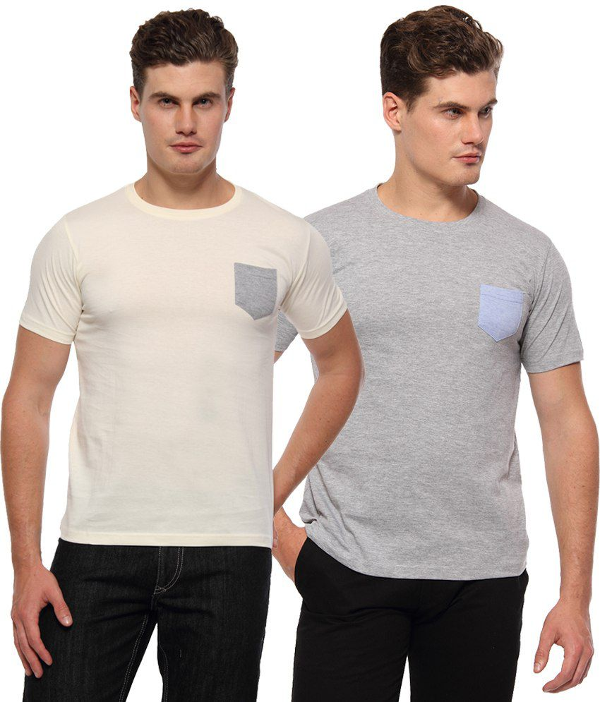 Youthen Multi Round T Shirts Pack of 2