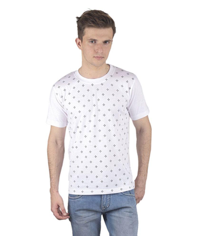 Chakkor White Henley T Shirts
