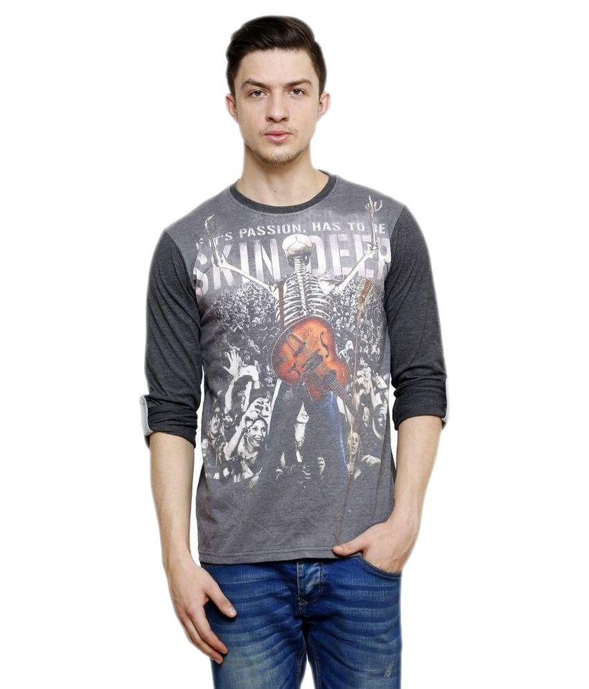 Era of Attitude Grey Round T Shirts