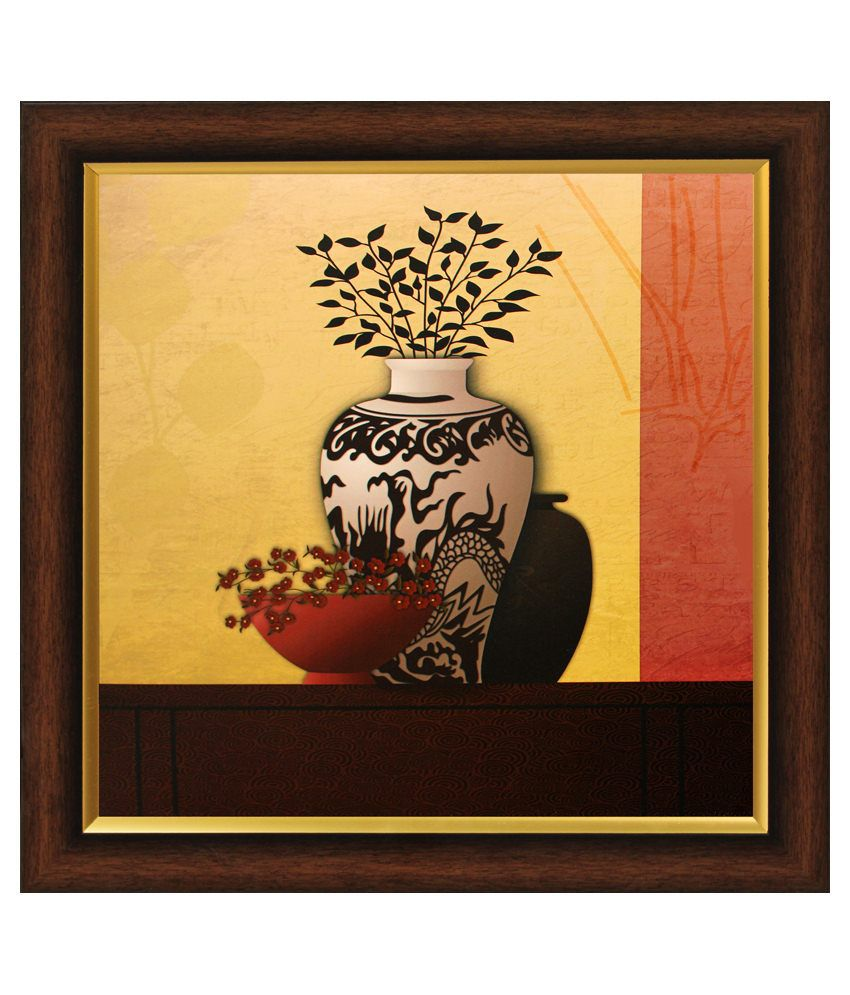SAF Wooden Floral Painting With Frame