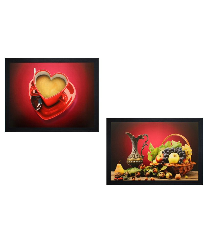 SAF Wooden Painting With Frame Set Of 2