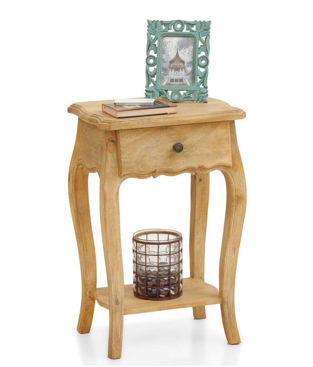 The Armchair Dinan Solid Wood End Table