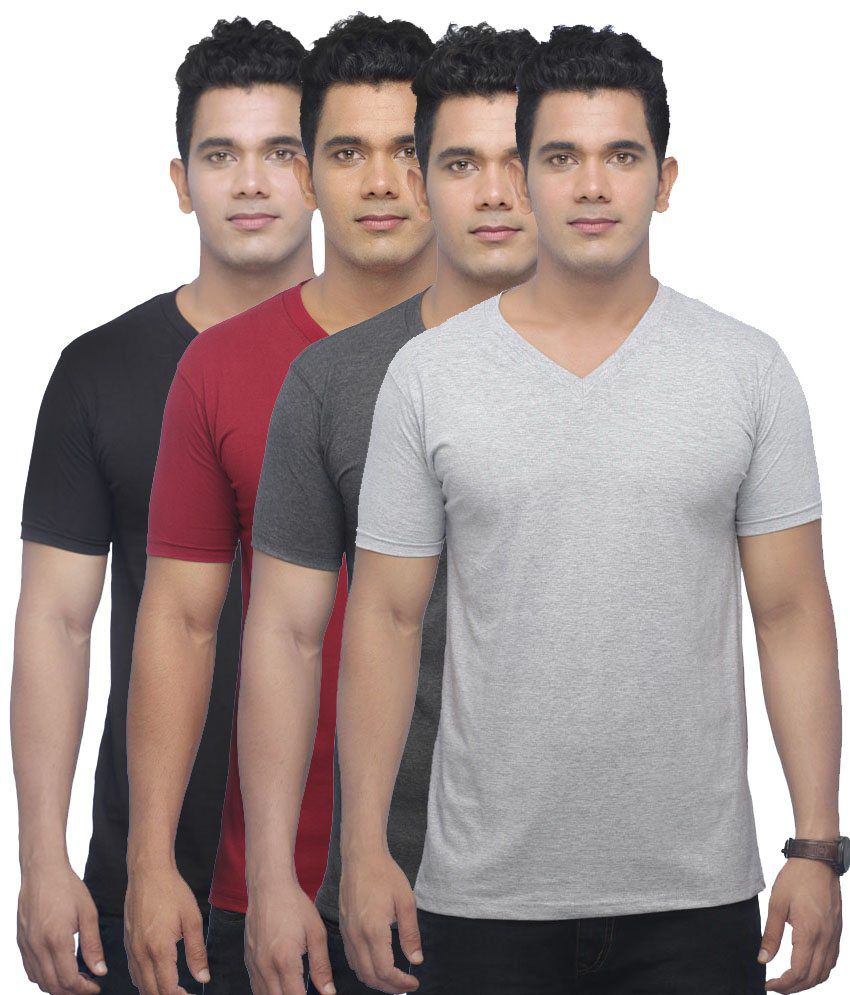 Uk Tribes Multi V-Neck T Shirts