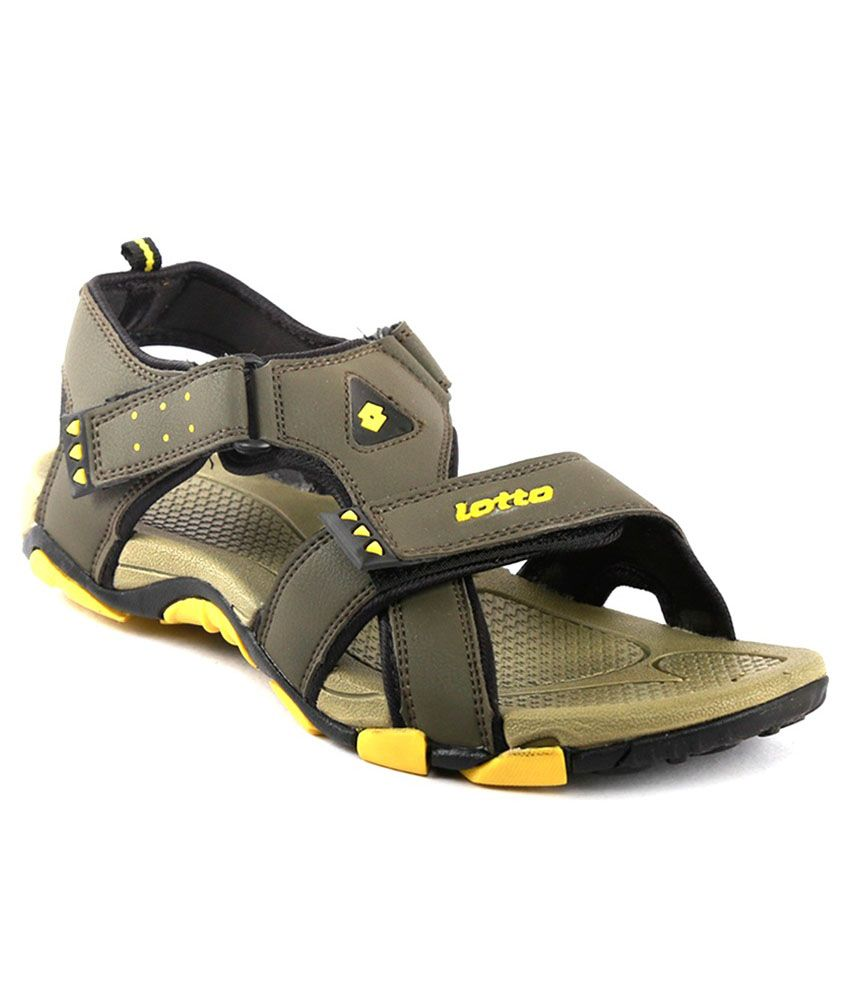 284f1b73b Lotto Musketeers Olive Yellow Men Floater Sandals - Buy Lotto Musketeers  Olive Yellow Men Floater Sandals Online at Best Prices in India on Snapdeal