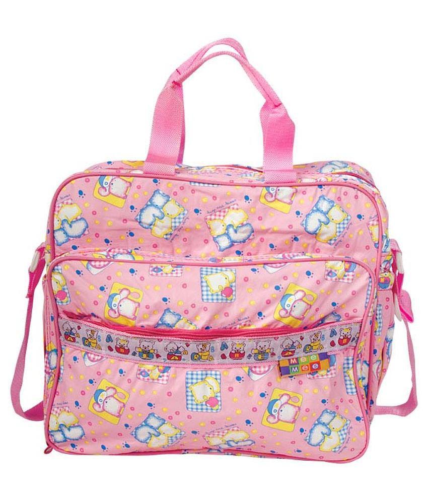Mee Mee Multifunctional Diaper Bag_Pink