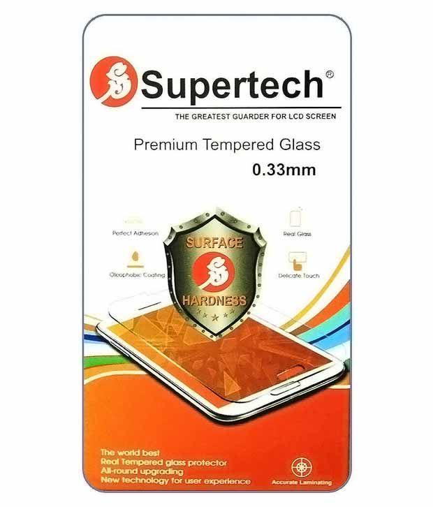 Supertech HD Tempered Glass Screen Guard For Micromax Canvas Nitro 2 E311
