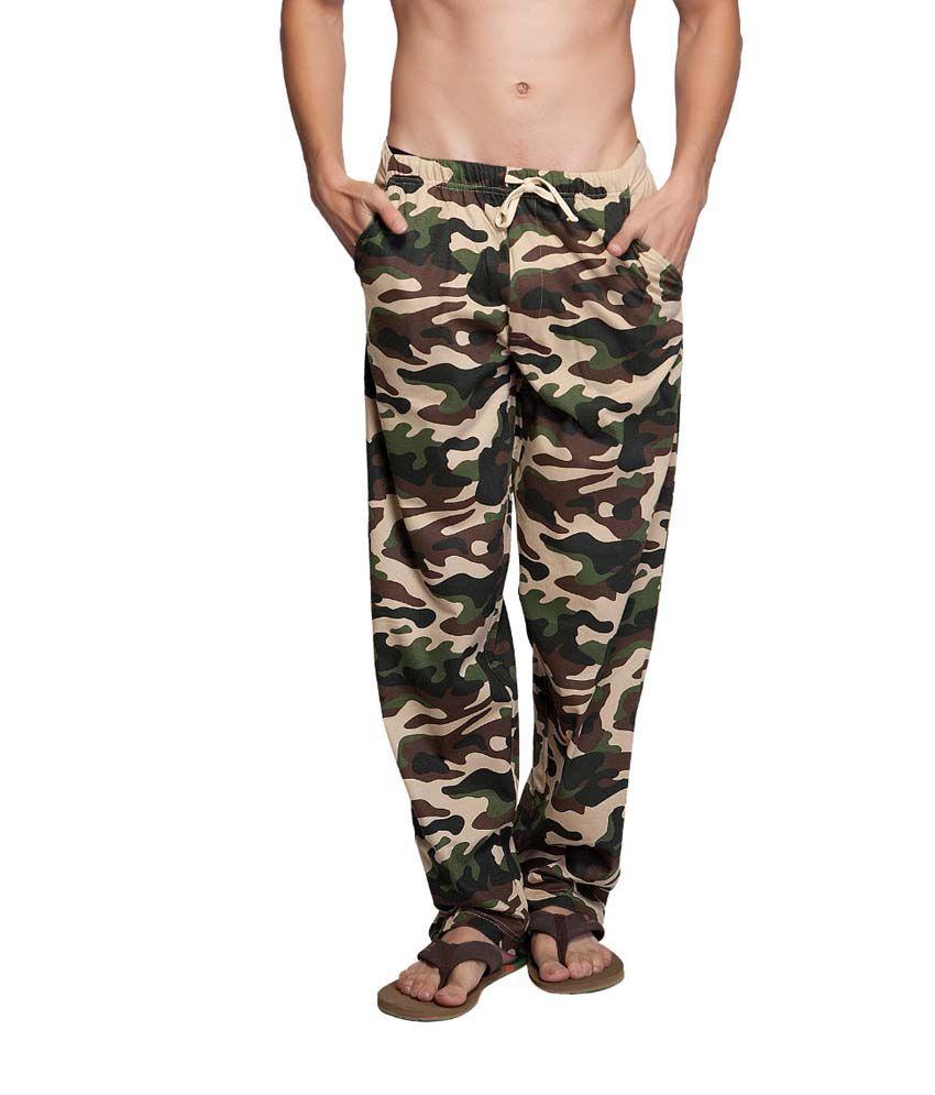 Clifton Fitness Men's Army Track Pant -Safari