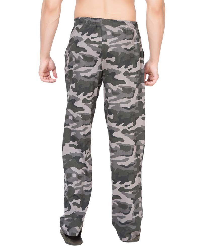 Clifton Fitness Men's Army Track Pant -Steel Grey
