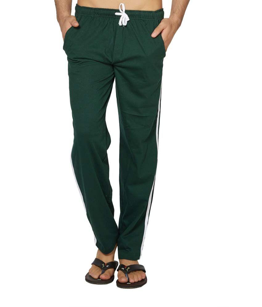 Clifton Fitness Men's Coloured Track Pants -Bottle Green