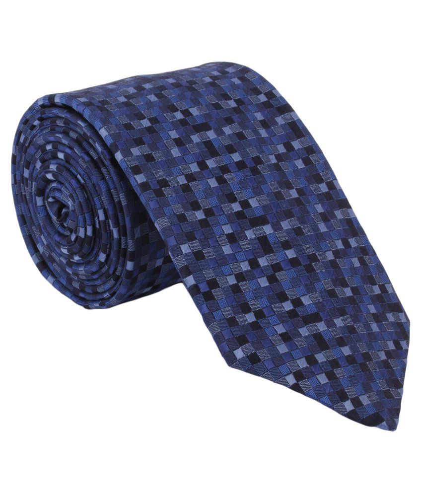 Alvaro Castagnino Blue Narrow Tie For Men