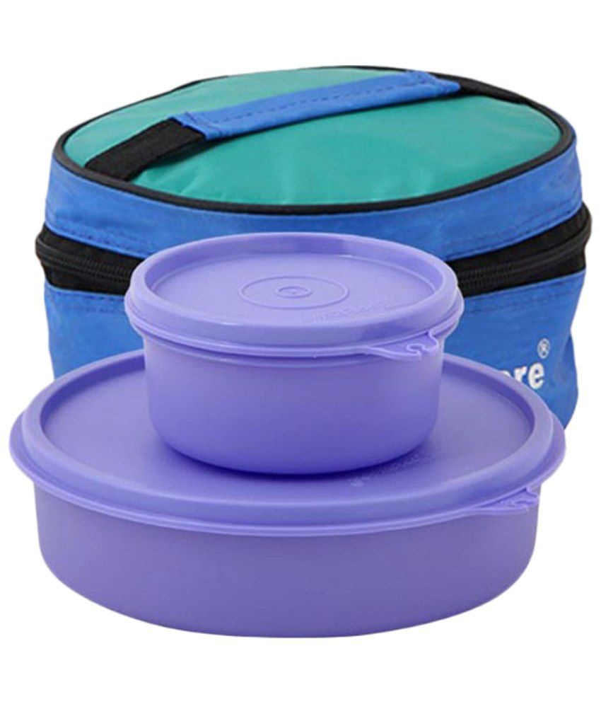 tupperware pack of 2 purple plastic lunch boxes buy. Black Bedroom Furniture Sets. Home Design Ideas