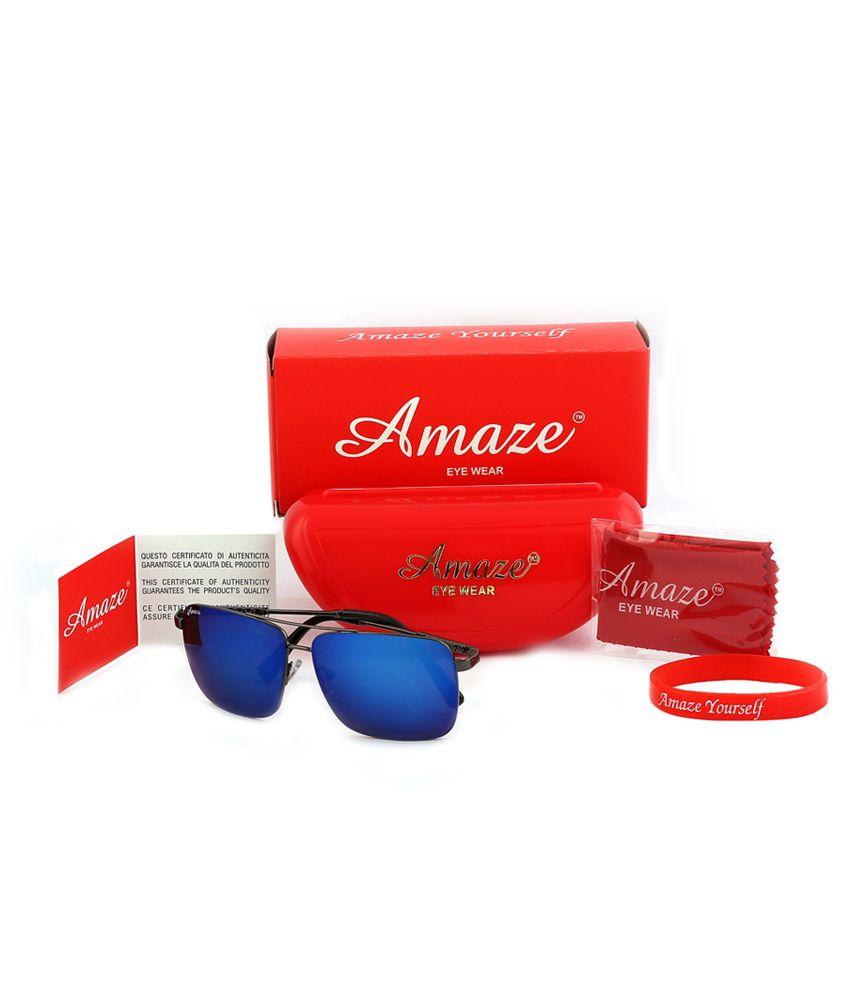 Amaze AM1849-C01 Unisex Rectangle Sunglass