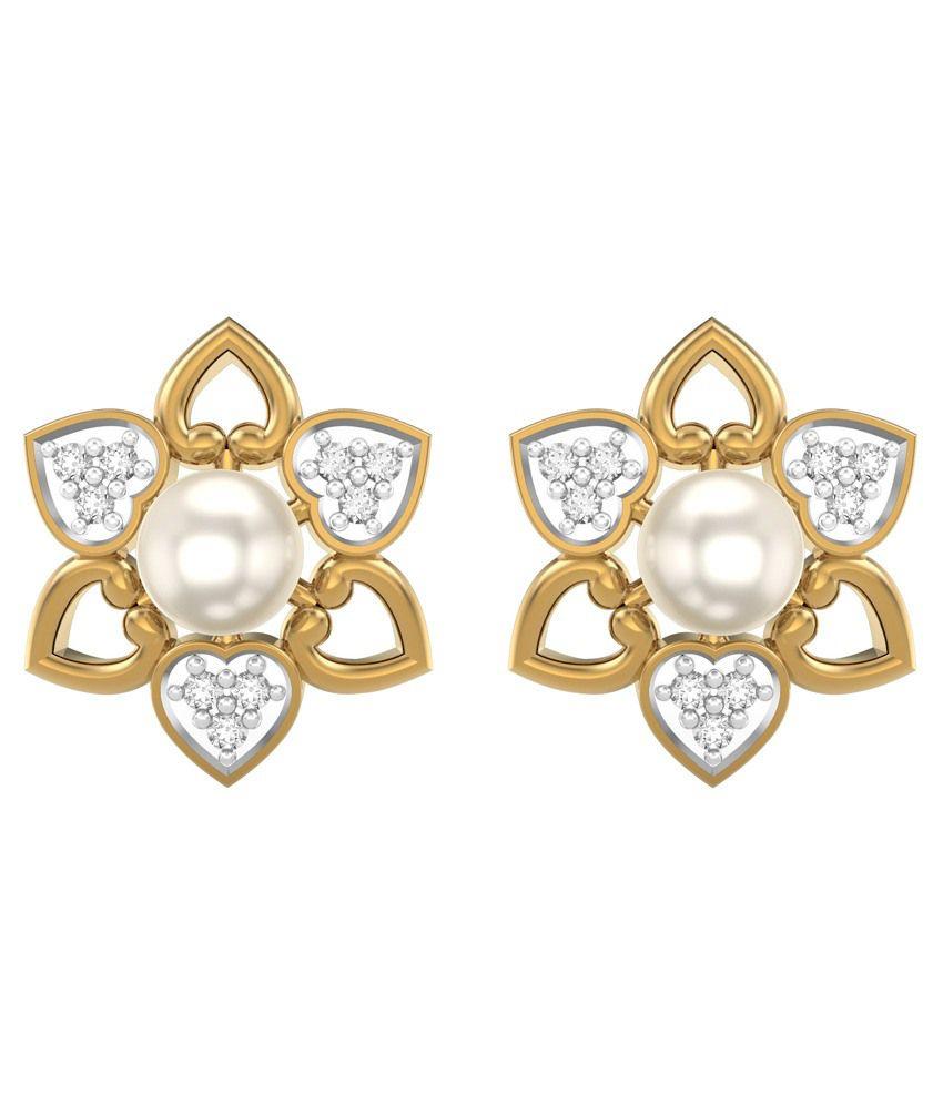 Rings And Blings 18Kt Gold Stud Earrings