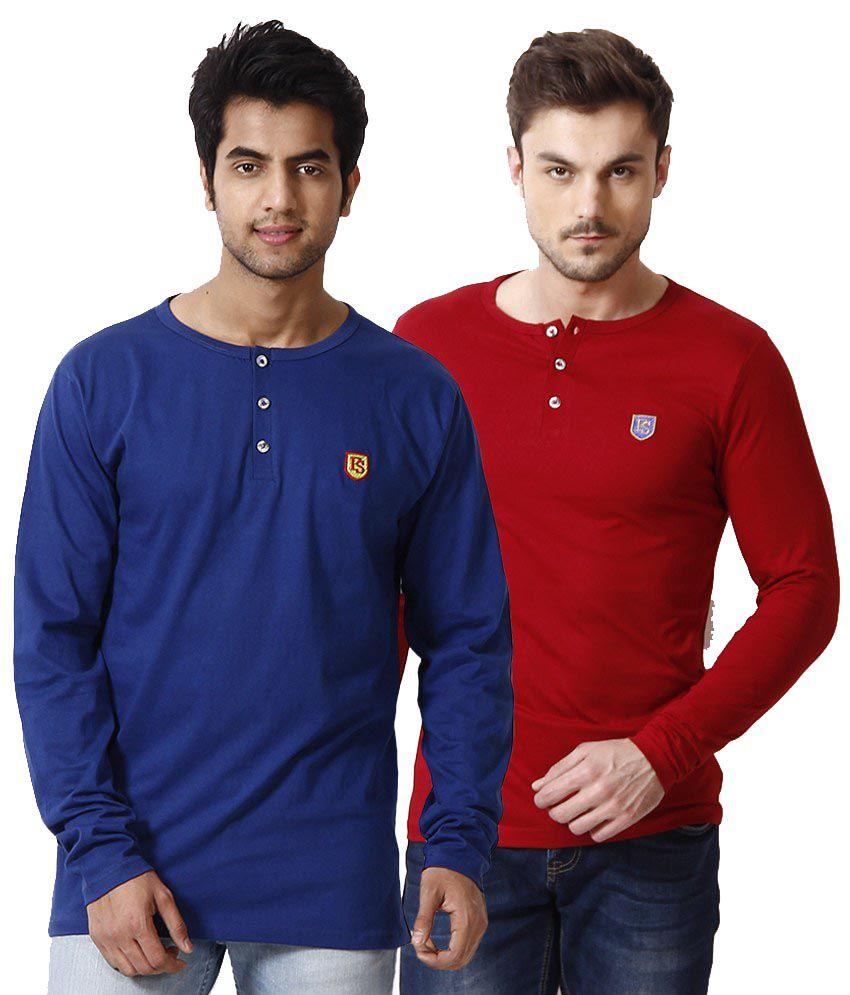 Free Spirit Multicoloured Cotton T-Shirt - Set of 2