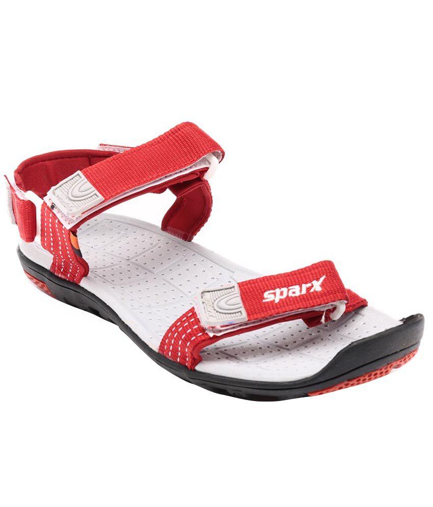 Sparx Red Floater Sandals Art Asparxss414red Buy Sparx