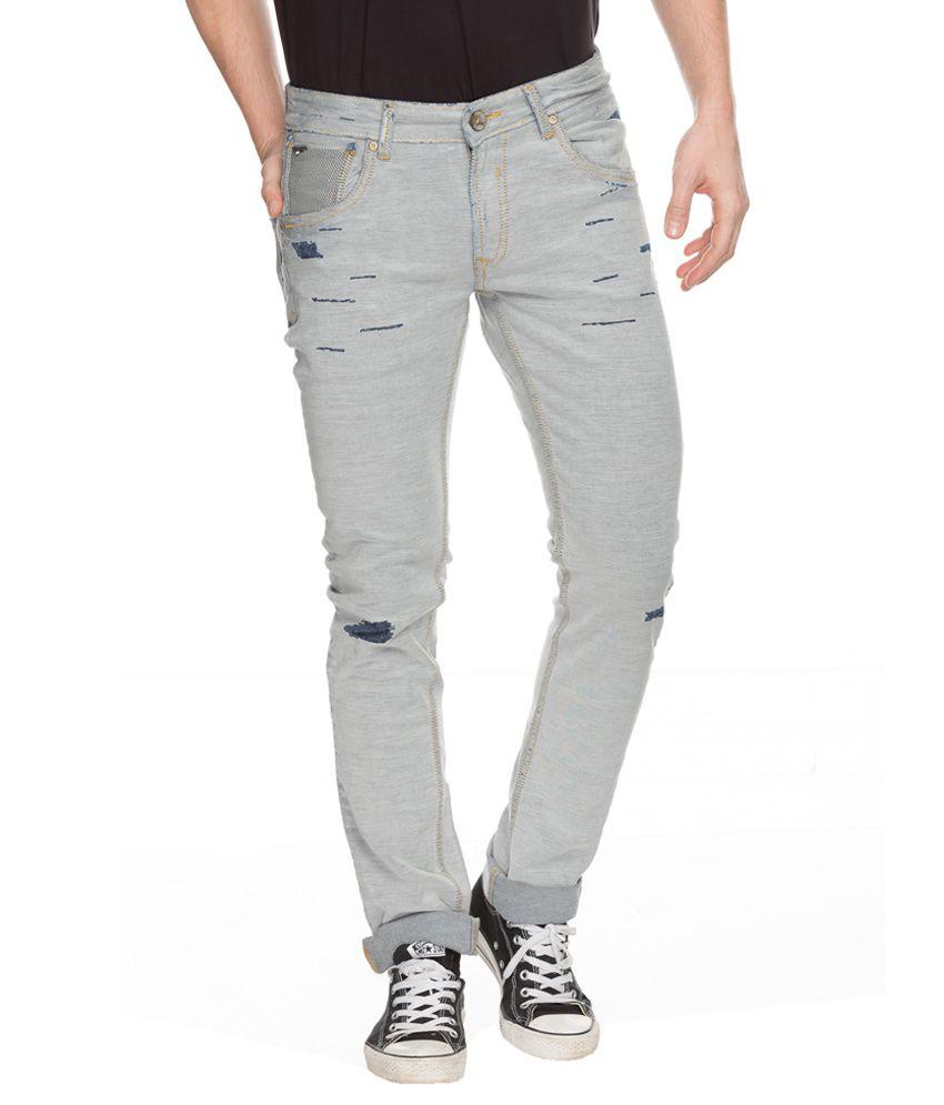 Spykar Grey Skinny Fit Jeans